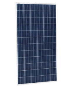Billede af blåt, polykrystallinsk solcellepanel. Brugt til at illustrere: hvad koster et solcelleanlæg?