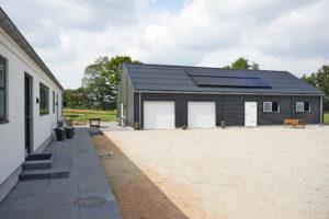 Eksempel på privat solcelleanlæg, 6 kWp